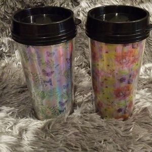 Butterfly and floral coffee mugs 16 oz